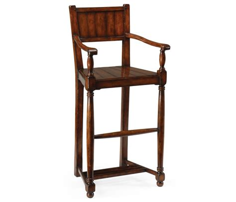 Jonathan Charles Bar Stools by Bar Stool With Wooden Seat And Back Country Farmhouse