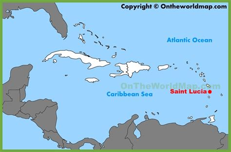 lucia location on world map lucia location on the caribbean map