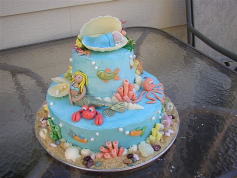 Baby Shower Cake Ideas by Baby Shower Cakes Baby Shower Cakes The Sea