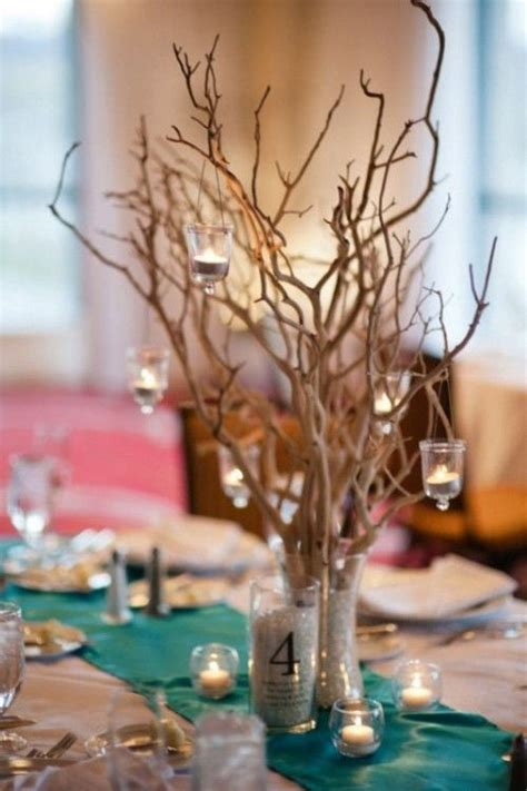 hanging candles branches and rustic beach weddings on