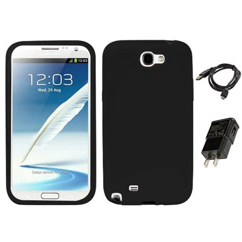 for samsung galaxy note 2 n7100 silicone skin rubber soft cover charger ebay