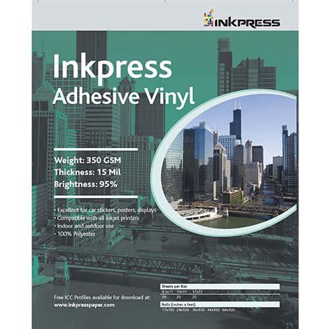 printable vinyl sheets canada inkpress media 8 5 quot x 11 quot adhesive vinyl 13mil 20 sheets