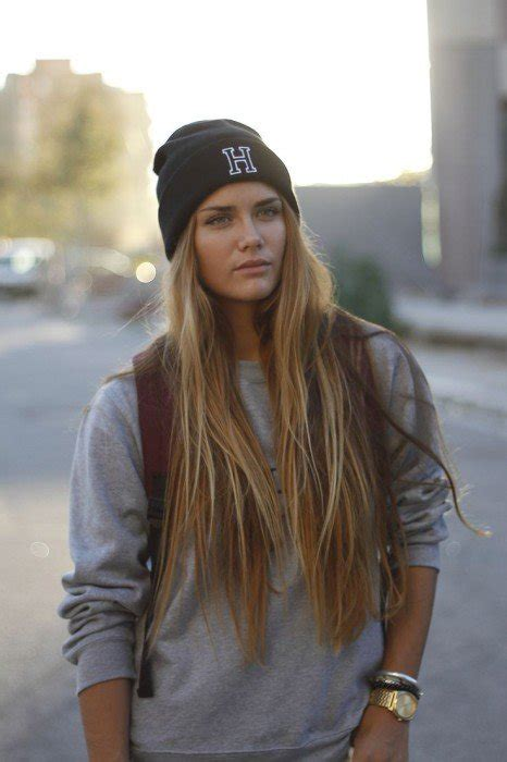 straight hair with outfits 10 stylish ways to wear a beanie herinterest com