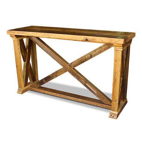 vintage x barnwood server sofa table