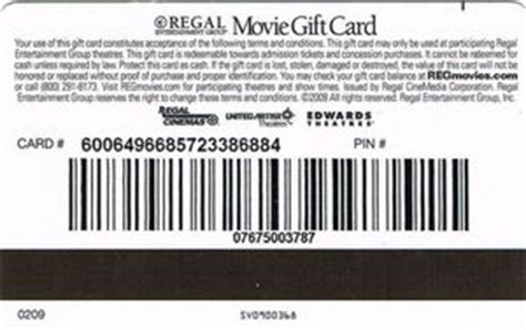 Colnect Gift Cards - gift card movie gift card regal united states of america movie gift card col us