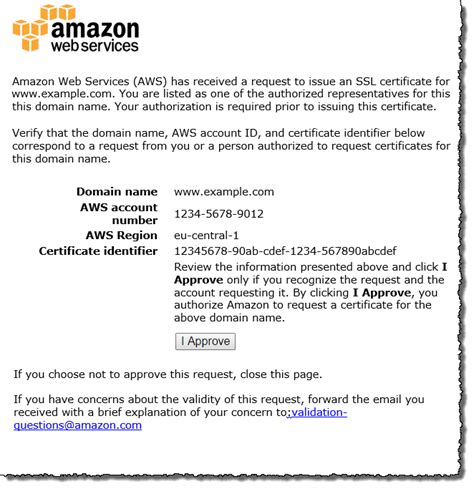 certification letter of ownership sle use email to validate domain ownership aws certificate