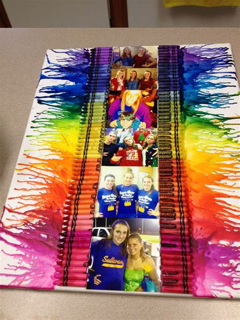 diy crayon crafts melted crayon i made my friend with pictures crafts melted crayons