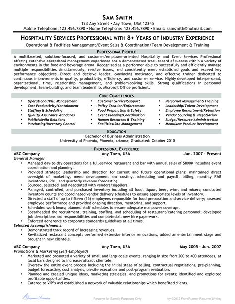 microsoft word hospitality services professional doc