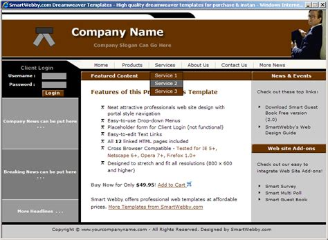 simple web templates for asp net neat lawyers template