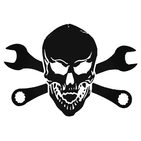 Sticker Motor Decal Nmax Skull 30 22 6 inch tool wrench skull decal sticker