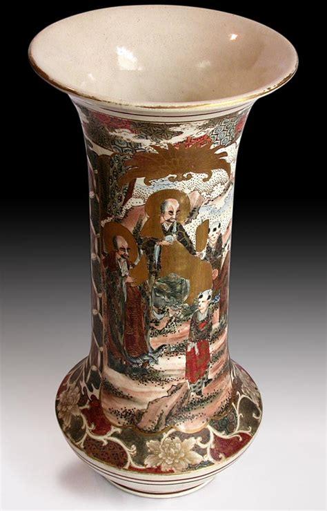 Antique Japanese Vase Value by Antique Japanese Painted And Rakan Satsuma Vase