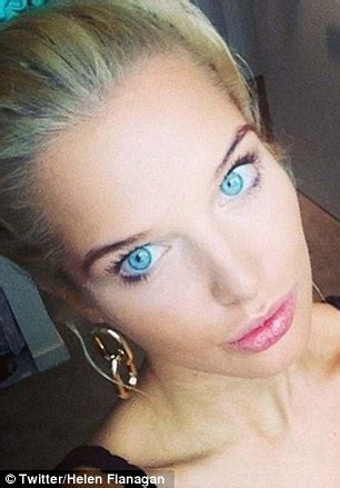 helen flanagan shows off her striking (and very different