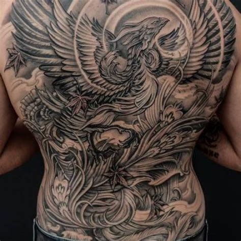 black and grey phoenix tattoo designs 60 wonderful tattoos collection