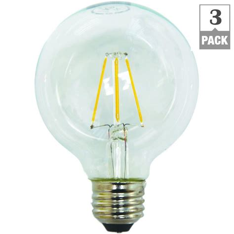 Ecosmart 60w Equivalent Soft White G25 Dimmable Filament Led Light Bulb Pack