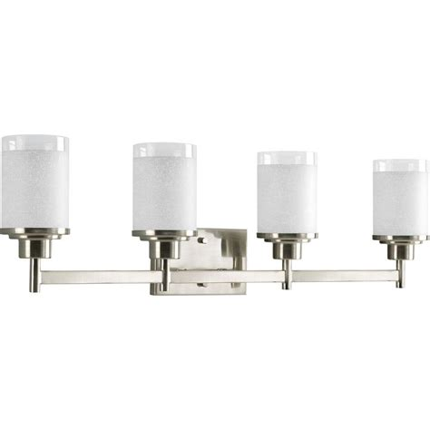 Home Depot Light Fixture Progress Lighting Collection 4 Light Brushed Nickel Vanity Fixture P2998 09 The Home Depot