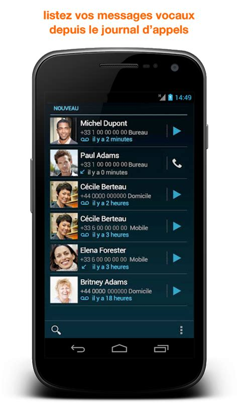 best visual voicemail android messagerie vocale visuelle android apps on play