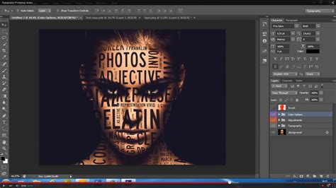 typography 2 photoshop action tutorial typography 5in1 photoshop actions bundle by unicdesign