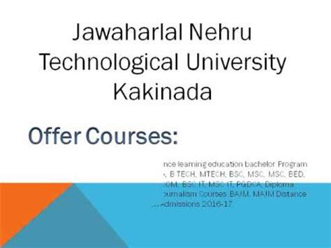 Jawaharlal Nehru Distance Mba by Jawaharlal Nehru Technological Distance
