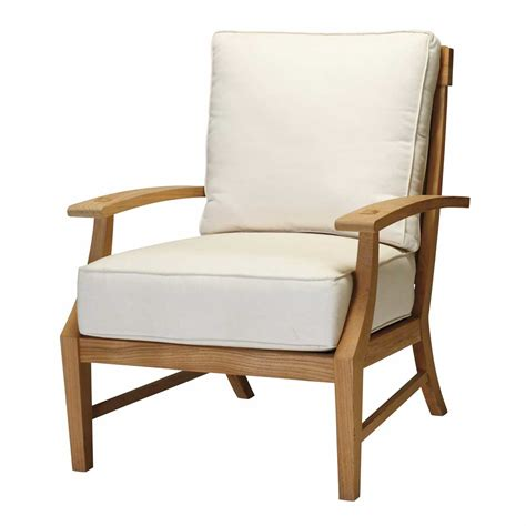 croque teak patio lounge chair