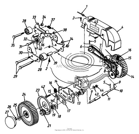 front wheel assembly diagram mtd 126 458b000 1996 parts diagram for front wheel assembly