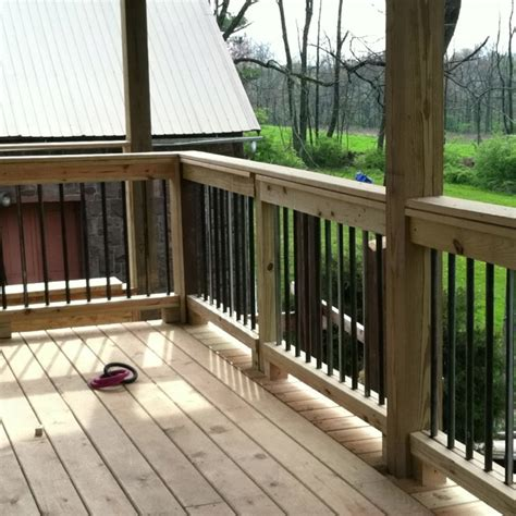 Back Porch Railing back deck rail house project back deck copper and decks