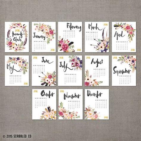 calendar design on pinterest 2016 monthly wall calendar 2016 calendar watercolor