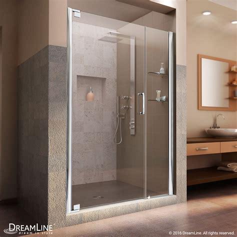 4 Shower Door Dreamline Elegance 59 3 4 To 61 3 4 In Frameless Pivot Shower Door Clear 3 8 I Ebay