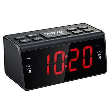 mpow radio alarm clock fm am digital alarm clock radio bedside alarm clocks with dual alarms