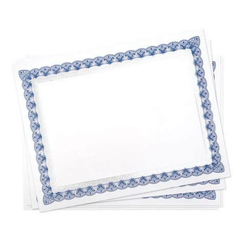 gartner certificate templates opentip gartner studios 36005 s blue silver foil