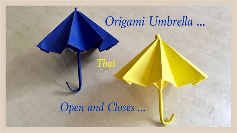 How To Make An Origami Umbrella - origami umbrella that open and closes diy origami