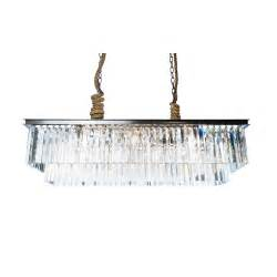 Rectangle Chandelier Odeon Rectangular Chandelier Ceiling Lights Lighting