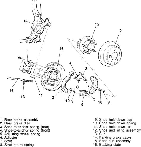 1997 chrysler cirrus front brake rotor removal diagram repair guides parking brake brake shoes autozone com