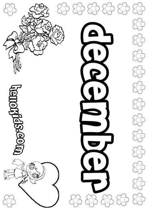 December Coloring Pages Hellokids Com December Coloring Page