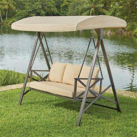 hton bay swing replacement canopy patio swings patio chairs the home depot