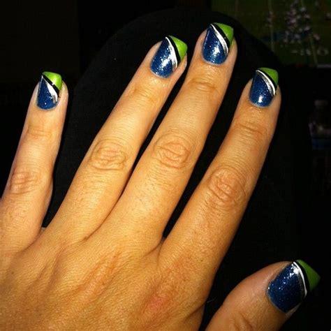 Seahawks Toe Nail Designs