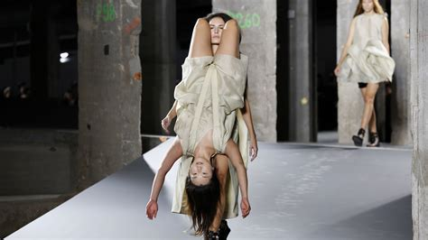 Are Fashion Shows Really Going Out Of Style by Rick Owens Fashion Show Has Models Wearing