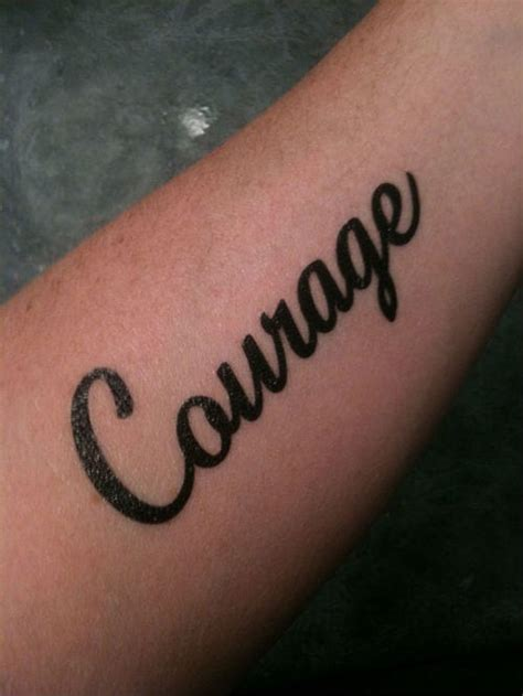 forearm word tattoos forearm courage word design creativefan