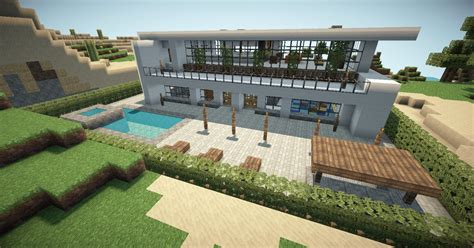 Patio Ideas Minecraft Minecraft Modern House 2 Minecraft Project