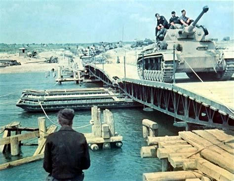 what is a pontoon bridge world war ii in color german armour crosses the don river