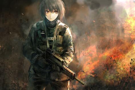 anime war girl in war anime girls artbooks theanimegallery com