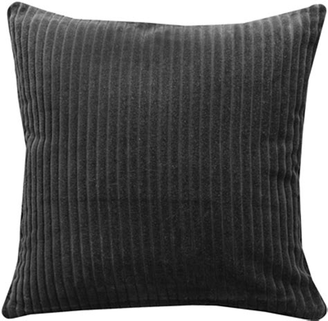 Black Throw Pillow by Cotton Corduroy Black Throw Pillow 16x16