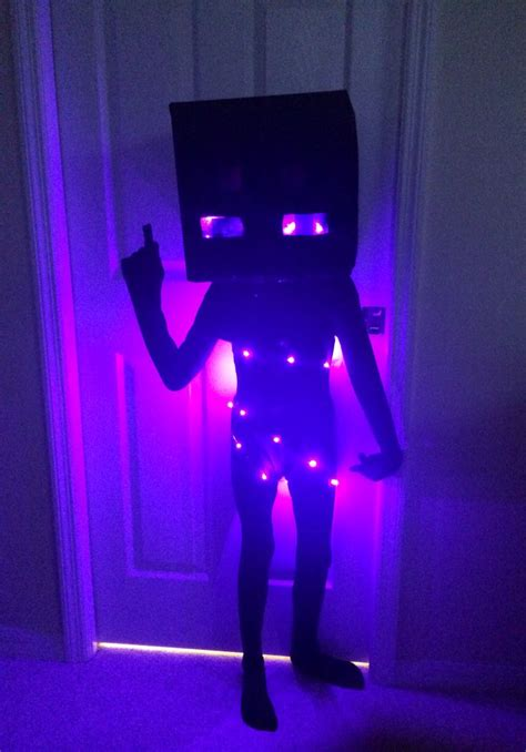 jacks minecraft enderman costume halloween pinterest