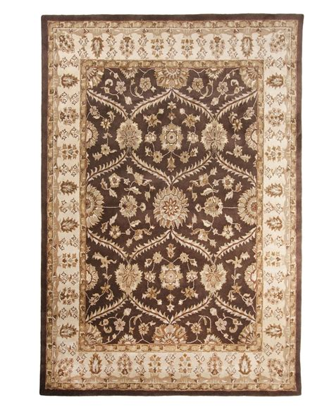 9 X 12 Wool Area Rugs Brown Tufted Traditional Wool Area Rug Carpet 9 X 12