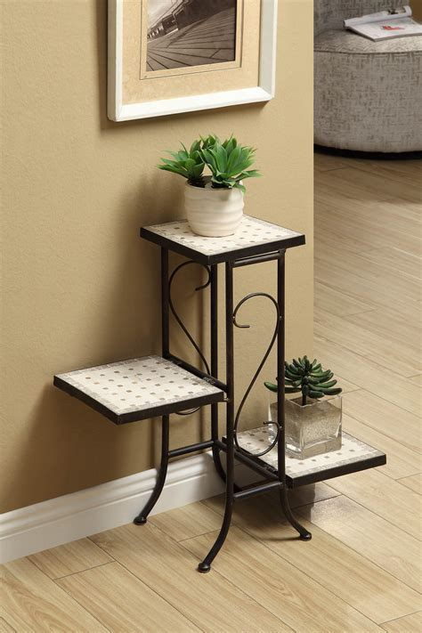 Kitchen Cabinet Closeouts 3 Tier Plant Stand W Travertine Top