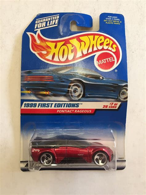 Hotwheels Pontiac Rageous Diecast 1999 Editions 1999 wheels editions pontiac rageous collector