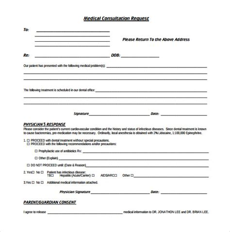 Consultation Template sle consultation form 11 free