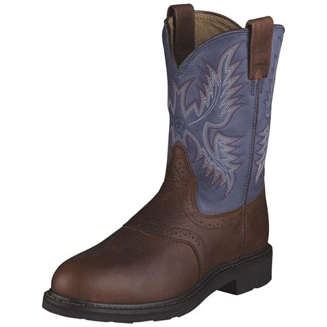 ariat steel toe boots ariat 174 steel toe saddle boots 216241 cowboy