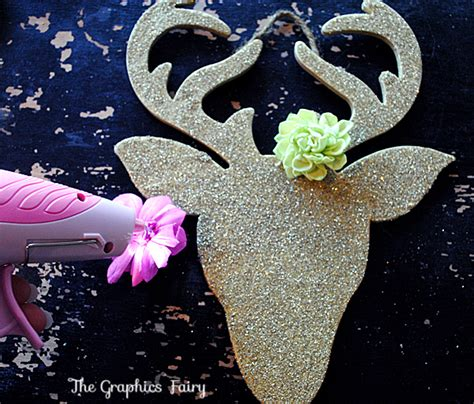 christmas decoration step by step tutrials ornaments glitter reindeer the graphics