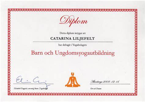 Word For Barn Diplom Barn Och Ungdomsyogautbildning