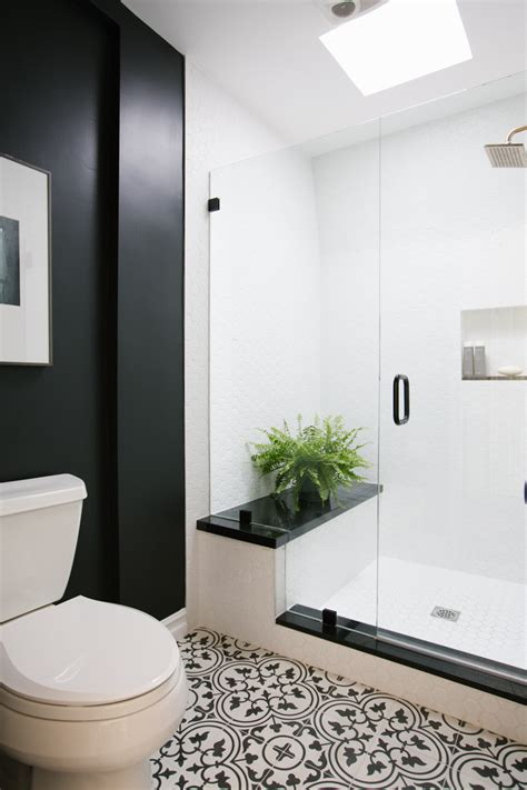 black and white bathroom ideas gallery patterned tile floor photos design ideas remodel and decor lonny